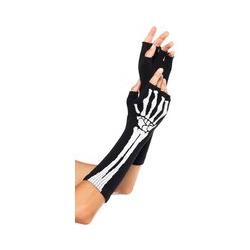 Leg Avenue Fingerlose Skelett-Handschuhe