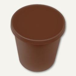 Helit Objekt-Papierkorb, 18 Liter, (Ø)31.5 x (H)33.1 cm, PE, braun, H6105875