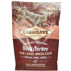 Carnilove Adult CAT  Ente&Truthahn Large Breed Getreidefreies Katzenfutter für große Rassen (2 kg)