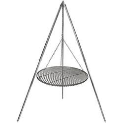 Grillplanet Holzkohlegrill Schwenkgrill Grillrost 60 cm Edelstahl 2,10 m, Set