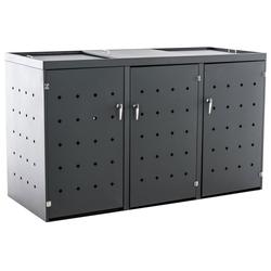 CLP Mülltonnenbox Nelli, Unterstand Für 2-3 Mülltonnen Bis 240 Liter grau
