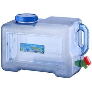 Wasserbehälter,18L Wasserkanister Tragbarer Eimer mit Griff und Festmontiertem Ablass,BPA-frei Kunststoff Verdickt Platz Wassertank für Reise Kampierendes Nach Hause Trinkender Speicher-Eimer