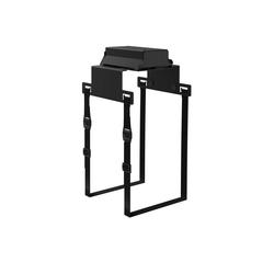 boho office® Halterung, (Computer-Halter, PC-Halterung mit Gurtsystem zur Montage unterhalb der Tischplatte, flexibel anpassbar an fast jeden Desktop-PC)