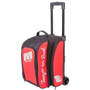 DV8 Freestyle Bowlingtasche mit Zwei Rollen, Rot