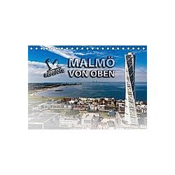 Malmö von oben (Tischkalender 2021 DIN A5 quer)