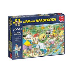 Jumbo Spiele Puzzle 19087 Jan van Haasteren Camping im Wald, 2000 Puzzleteile