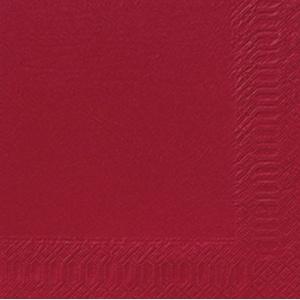 Duni Servietten 3lagig Tissue Uni bordeaux, 33 x 33 cm, 50 Stück