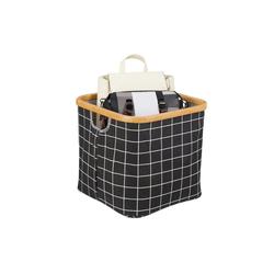 relaxdays Aufbewahrungskorb Aufbewahrungsbox Stoff schwarz