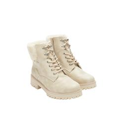 Velours-Boots Damen Größe: 36