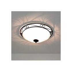 Licht-Erlebnisse Deckenleuchte ATHEN Deckenleuchte Landhausstil rustikal rund E27 Lampe