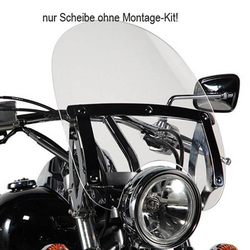 GIVI A23G Universal Windschild Transparent mit ABE, transparent