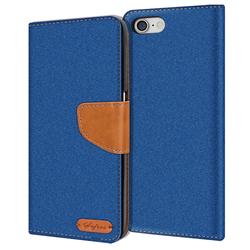 Handy Tasche für Apple iPhone 7 / iPhone 8 / iPhone SE 2 Hülle Wallet Jeans Case Schutzhülle