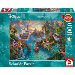 Schmidt Spiele Puzzle Thomas Kinkade Peter Pans Never Land, Puzzleteile bunt