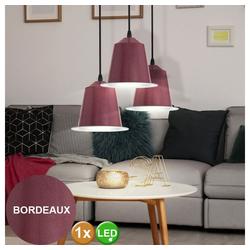 EGLO Pendelleuchte, 5 Watt LED Decken Pendel Hänge Lampe Leuchte Stahl bordaux IP20 Eglo 75106