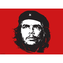 Platzset, Tischsets I Platzsets - Kuba - Che Guevara rot - 12 Stück aus hochwertigem Papier 44 x 32 cm, Tischsetmacher, (12-St)