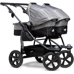 Kombi Kinderwagen TFK Duo, mit Luftkammer Radset, grau