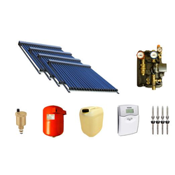 Solaranlage Warmwasser und Heizung mit 120 SWD Röhren 58/1800 (19,8 m²) Edelstahl