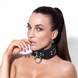 Breites Halsband in Leder-Design