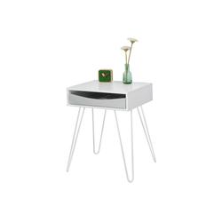SoBuy Nachttisch FBT82, Beistelltisch mit Schublade