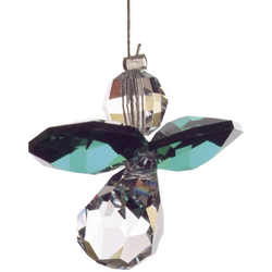 HCA 5080em Swarovski Kristall Schutzengel klein Smaragd
