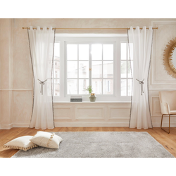 Gardine Mira, Guido Maria Kretschmer Home&Living, Ösen (1 Stück), Mit Raffkordel 130 cm x 145 cm