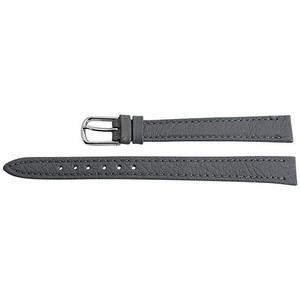 Shaghafi Echtleder-Uhrenarmband - grau - 10 mm