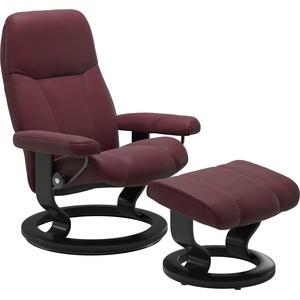 Stressless® Relaxsessel Consul (Set, Relaxsessel mit Hocker), mit Hocker, mit Classic Base, Größe L, Gestell Schwarz rot