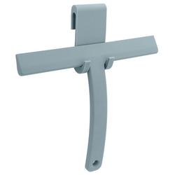 Libaro Duschabzieher, Silikon grau mit Halterung Haken für Glasduschwand Fensterabzieher für Bad Dusche Fliesen Fenster