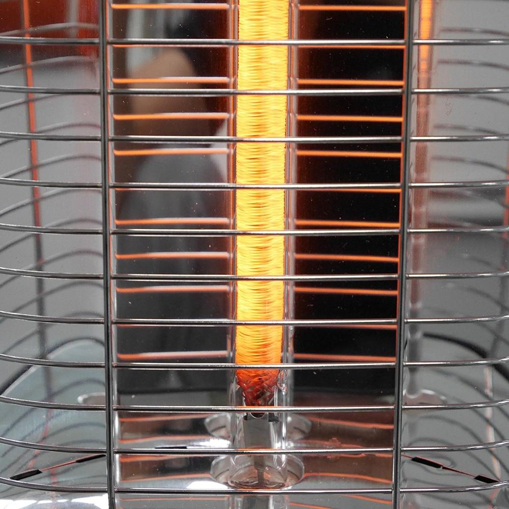 2500 Watt VASNER StandLine 25R Infrarot-Standheizstrahler schwarz max