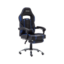 ZENEZ Schreibtischstuhl Chefsessel, Gaming Stuhl blau