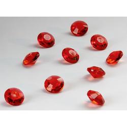 Deko Diamanten Dekosteine Tischdeko Dekoration 10mm - rot