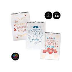 OfficeTree Kalender zum Selbstbasteln Bastelkalender Set im Familien Design, Kalender DIY in DIN A4 - 3 Stück
