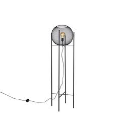 Moderne Stehlampe schwarz - Mesh Ball