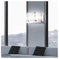 etc-shop Wandleuchte, 2er Set LED 3 Watt Wand Strahler Leuchte Kristall Würfel klar Beleuchtung Lampen