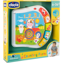 Chicco Lernspielzeug Zahlen Farmbuch bunt Kinder Lernspiele