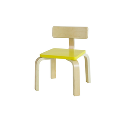 SoBuy Stuhl KMB29 Kinderstuhl mit Rückenlehne Stuhl für Kinder gelb