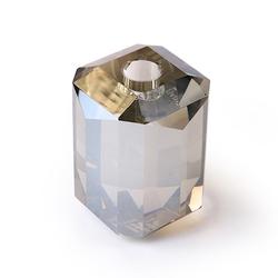 HKliving Kristallglas Kerzenhalter Grau Diamant