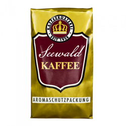 """Gemahlener Kaffee Seewald Kaffeerösterei """"Kaffee Crema"""" (Siebträger), 500 g"""
