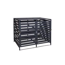 MCW Mülltonnenbox MCW-H62-L, erweiterbar, abschließbar grau