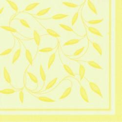 """Papstar Servietten, 1/4-Falz, 40 cm x 40 cm, """"ROYAL Collection"""", Motiv: """"New Mediterran"""", 1 Karton = 8 Packungen à 20 Stück, gelb"""