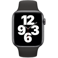 Apple Watch SE GPS + Cellular 44 mm Aluminiumgehäuse space grau, Sportarmband schwarz
