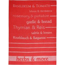 stuco Geschirrtuch Herbs&More - Jacquard, (Set, 3-tlg)
