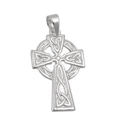 unbespielt Kreuzanhänger Anhänger Kettenanhänger für Halskette Keltenkreuz Herren 925 Silber 22 x 13 mm inkl. kleiner Schmuckbox, Silberschmuck für Damen und Herren