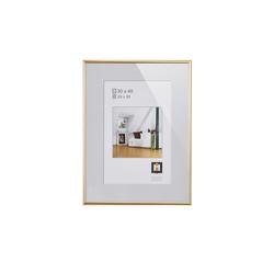 Kunststoffrahmen 30x40 cm ¦ gold ¦ Glas