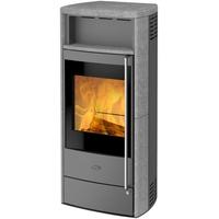 Fireplace Teramo Stahl gussgrau/Speckstein