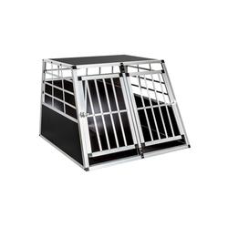 tectake Tiertransportbox Hundetransportbox doppel mit gerader Rückwand 97 x 90 x 69,5 cm - 90.0 cm x 69.5 cm x 97.0 cm