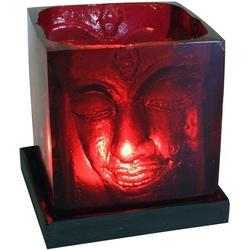 Guru-Shop Windlicht Teelicht Buddha - rot