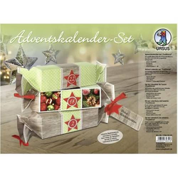 Adventskalender-Set Geschenkboxen Traditional 20x4,5x4,5cm