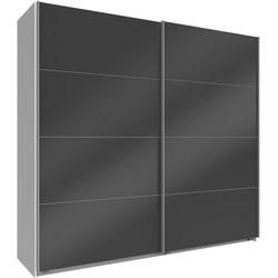 Wimex Schwebetürenschrank Easy mit Vollglas weiß 225 cm x 210 cm x 65 cm