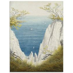 Artland Glasbild Kreidefelsen auf Rügen. 1825/26., Felsen (1 Stück) 60 cm x 80 cm x 1,1 cm